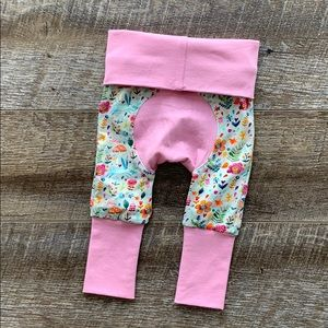 Other - Bunny Floral Grow With Me Pants